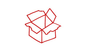 Reusable tote boxes icon
